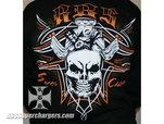 Short Sleeve Black Skull Shirt for Sale $25