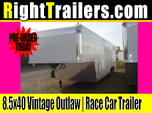 8.5x40 Vintage Outlaw | Race Car Trailer