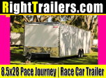 8.5x28 Pace American | Race Car Trailer  for sale $12,999