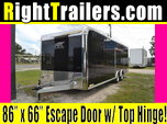 24ft Black ATC Race Trailer w/ 4000# Vehicle Load