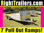 18' All Aluminum Car Hauler w/ Electric Brakes