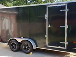 2016 16ft extra height enclosed trailer.