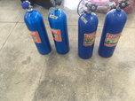 NOS bottles with super hi-flow valves  for sale $200