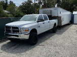 2012 Dodge Ram 3500 with  42' Haulmark enclosed trailer  for sale $30,000