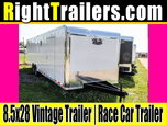 8.5x28 Vintage Outlaw | Race Car Trailer  for sale $10,999