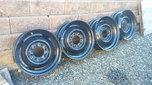 19.5 x6 rims single rear wheels  for sale $300
