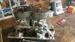 SBC Dual Quad Intake and Carb  for sale $800