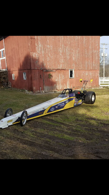 225 inch Undercover Rolling Dragster Chassis
