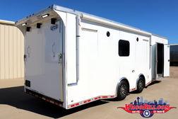 28' Bathroom/ Shower Package Race Trailer @ Wacobill.com