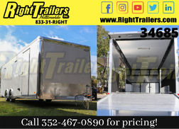 2021 8.5x24 Bravo Race Trailer with Premium Escape Door