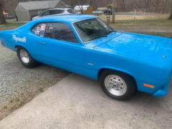 1973 Plymouth Duster with Trailer