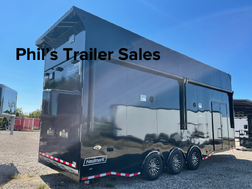 28' Haulmark Aluminum  Black Out Race Trailers Stacker
