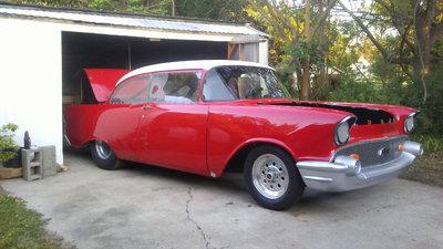Nice 57 Chevy Drag Car-509ci Chevy Engine
