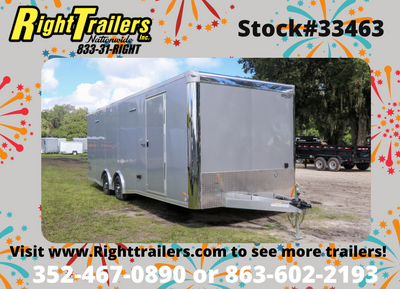 2021 8.5x24' Bravo Trailer with Premium Escape Door