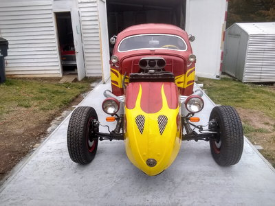 *** RAUNCHY RED VW RAT ROD ***