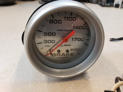 Autometer Ultralight Brake Pressure gauge and wiring