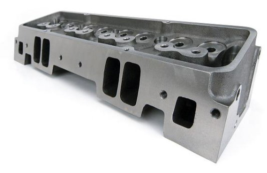 RHS SBC Raised Port Iron CNC ported Cylinder Heads  for Sale $625