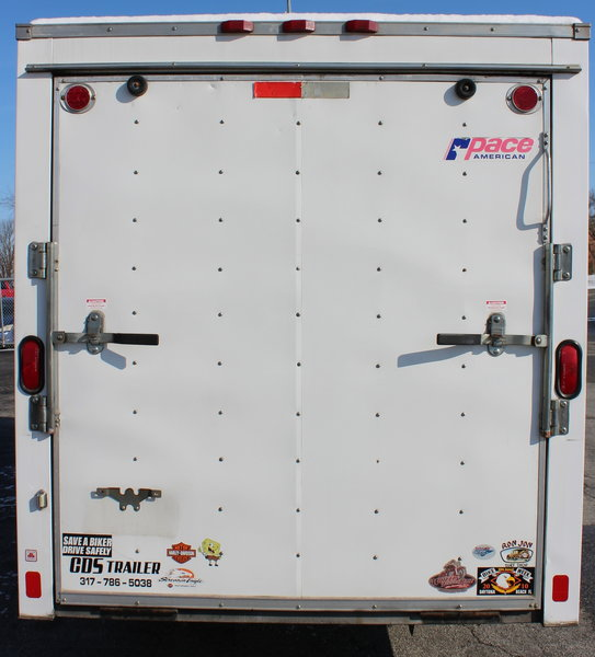 Pre-Owned 2007 Pace 6'x14' Motorcycle Trailer   for Sale $2,895
