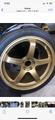 20 inch Gold Advan GT wheels