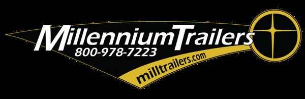 2020 28' Millennium Silver Race Trailer