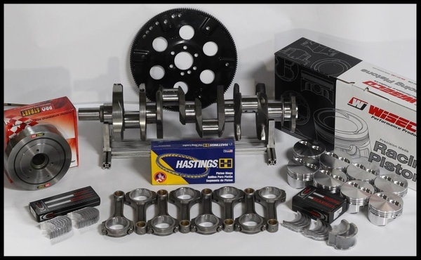 """383 ASSEMBLY SCAT CRANK 6"""" RODS WISECO +4cc DOME 040 1P  for Sale $1,150"""