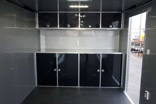 24' Aluminum Enclosed Car Hauler With Finished Interior