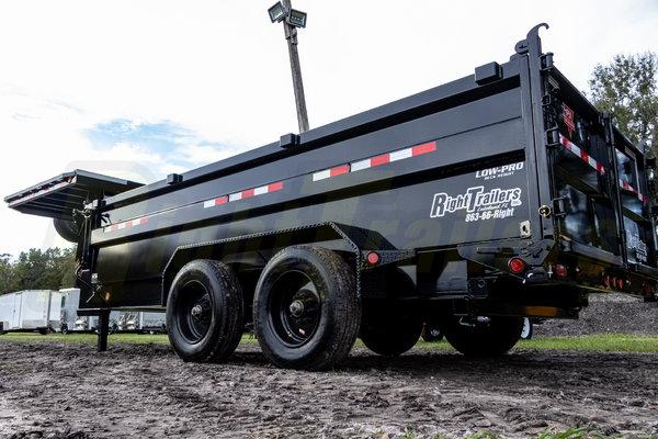 2021 7x16x3 PJ Gooseneck Dump Trailer