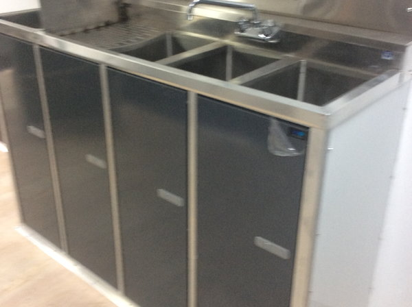 (F46 Inch overhead wall cabinet with spring loaded top hinge  for Sale $320