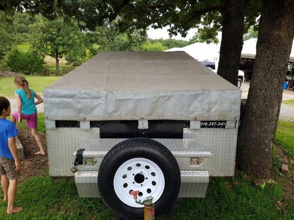 Custom Built 7 x 14 Car Trailer  for Sale $1,400