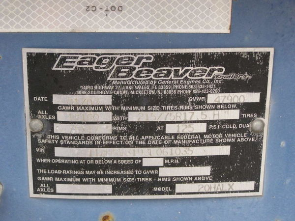 2003 Eager Beaver Trailers 20 FT AIR BRAKES