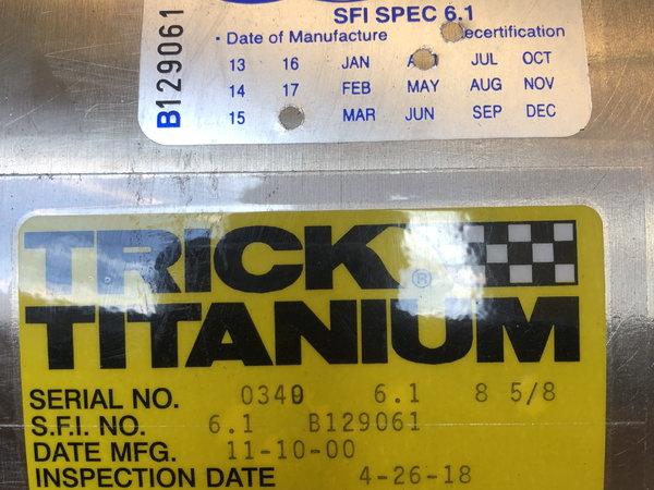 "8-5/8"" Trick Titanium can  for Sale $2,350"