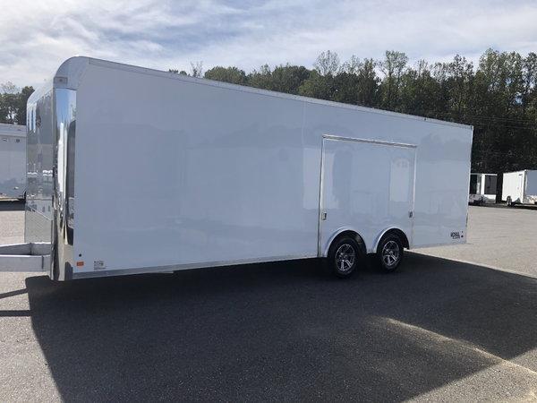 New 2020 8.5 x 24 Aluminum Trailer with Escape Door
