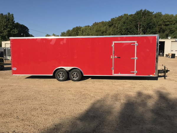 NEW 2019 UNITED TRAILER 8.5 X 28 TANDEM AXLE ENCLOSED CAR HA  for Sale $9,200
