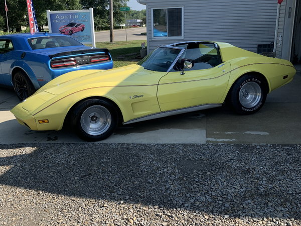 1974 T-Bar Yellow Corvette  for Sale $7,995