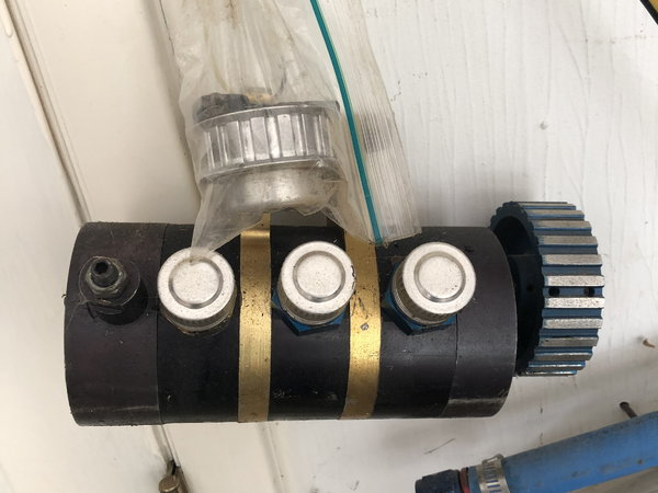 3 stage dry sump pump with pan for small block chevy  for Sale $600