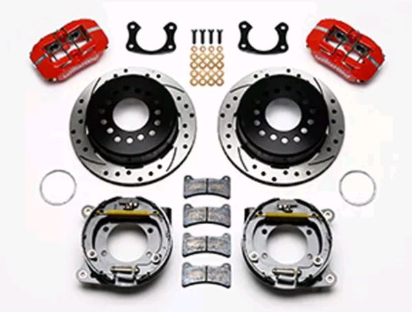 WILWOOD REAR DRILLED & SLOTTED BRAKE KIT - RED 140-11389  for Sale $800