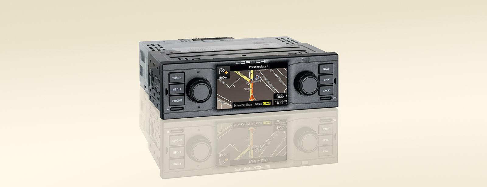 Porsche classic radio navigation system analogue driving pleasure with digital tech