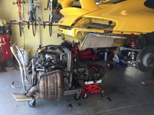 Engine and Tranny ready for access