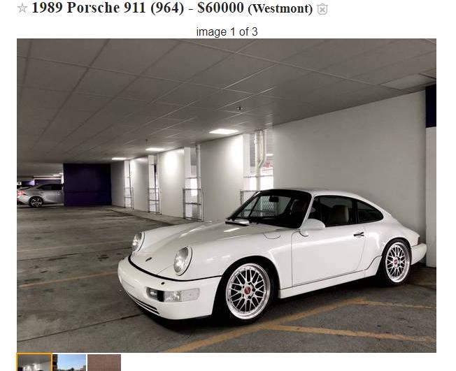 The Joys of selling a 964 on Craigslist. - Rennlist ...