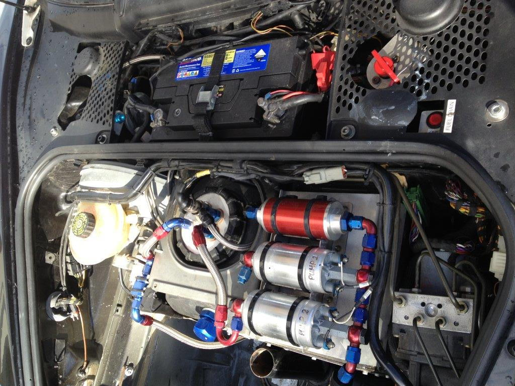 Help With Race Car Fuel System 6speedonline Porsche Forum And Wiring Setup It Was Originally Set Up As An Endurance Had A Removal Second Tank That Filled The Boot Trunk Space I Assume Connected To Pump 1