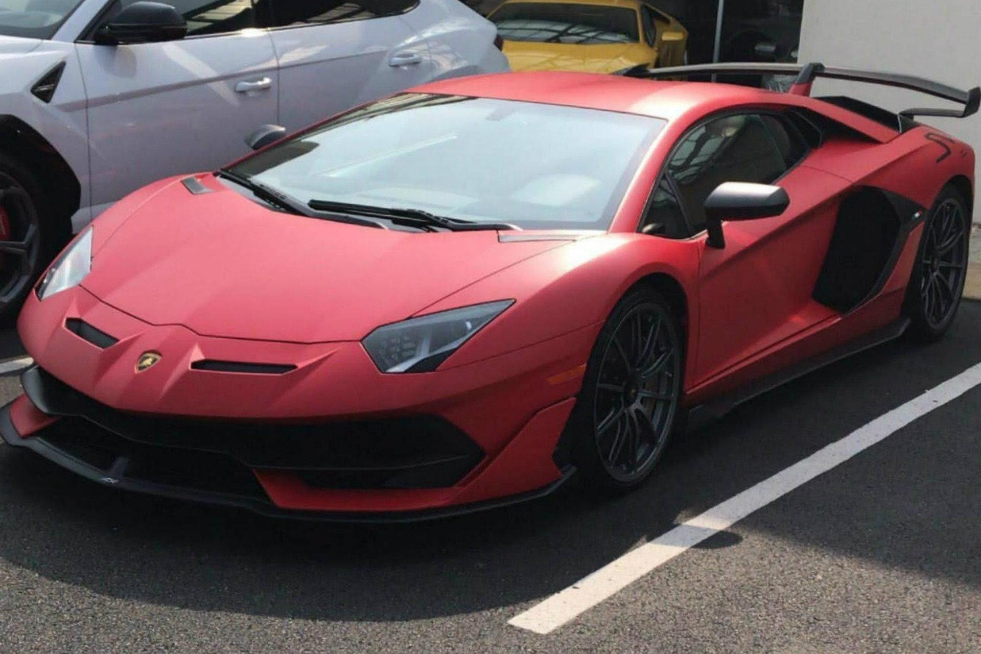 Matte Red Lamborghini Aventador Svj In Virginia 6speedonline Porsche Forum And Luxury Car Resource