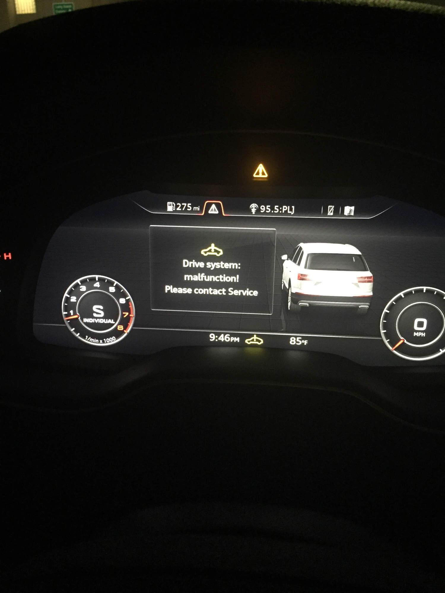 Drive System Malfunction?? - AudiWorld Forums