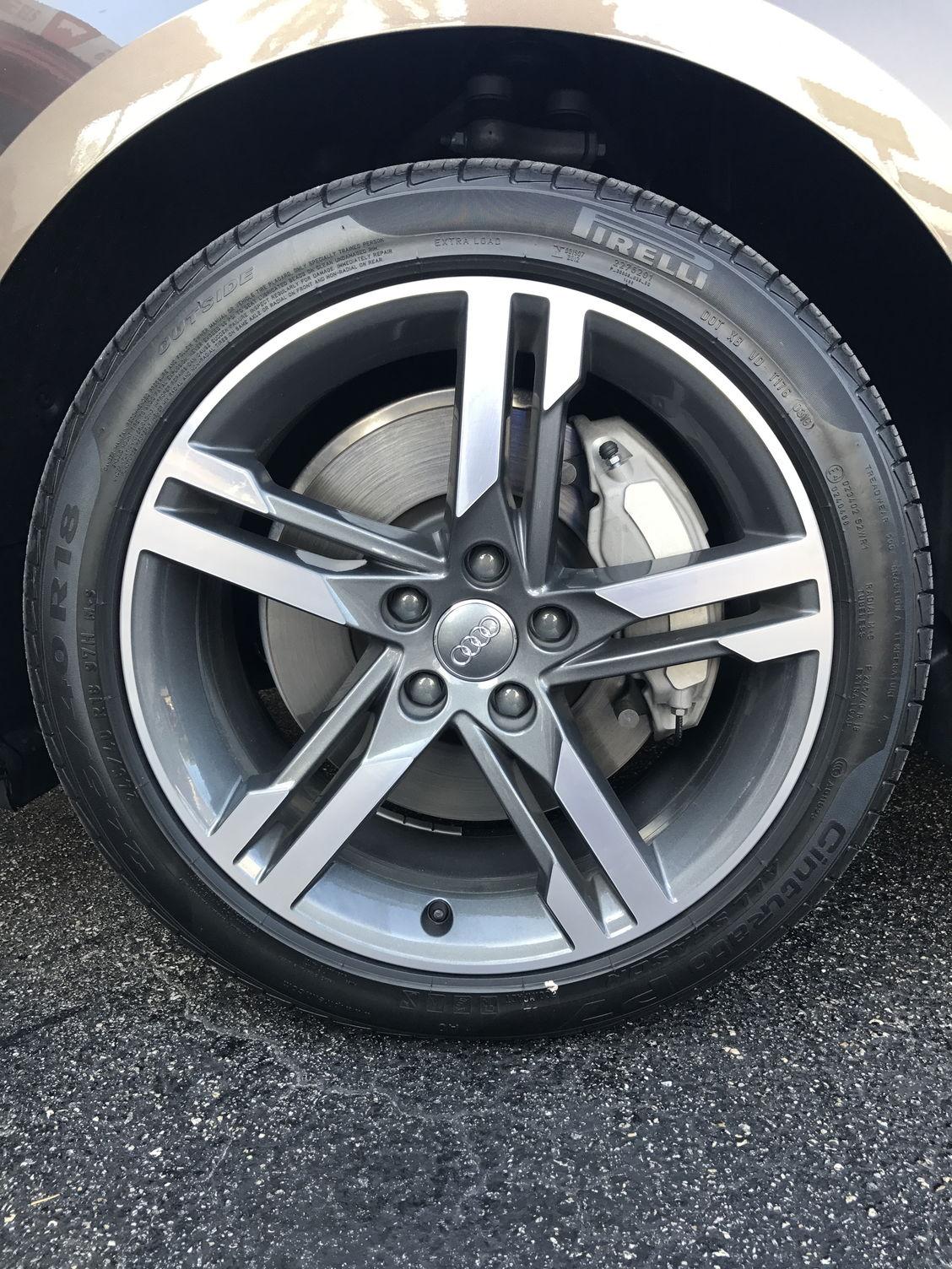 Audi A4 2017 Audi A4 B9 18 Inch Oem Wheels And Tires