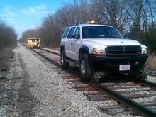 2002 Dodge Durango Hy-Rail with DMF 1013 railgear