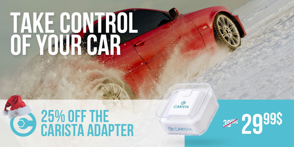 Sale Carista OBD2 adapter sale - 25% off  Also, you get 1
