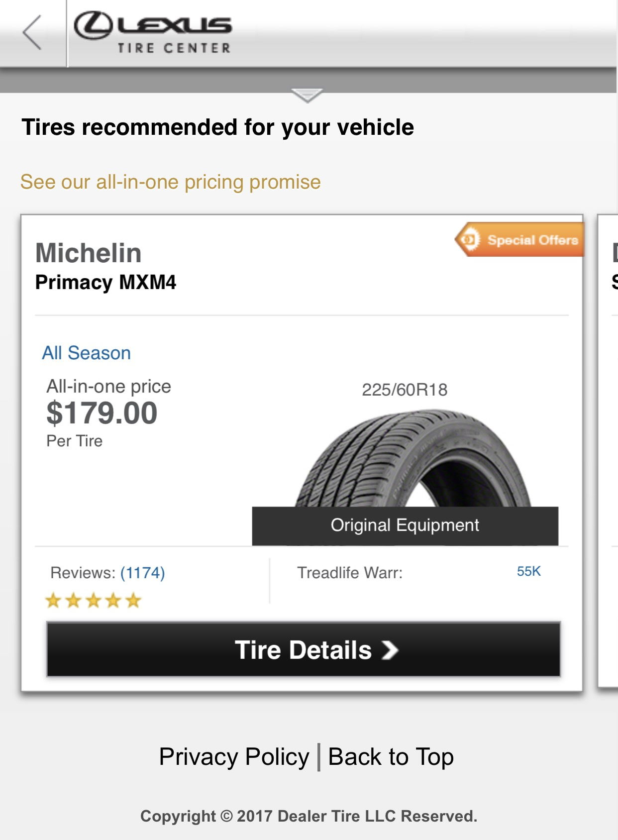 Michelin Primacy Tire Price Comparison Clublexus Lexus
