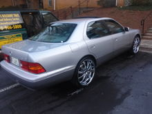 My 2000 Lexus LS400: Final result passenger side view.