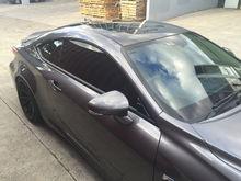Window trim and roof gloss black.