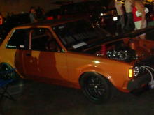 Son's Old school Corolla at HIN in Columbus