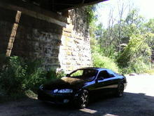 If you have ever been to the Wisconsin Dells, I took this under that railroad bridge next to the main bridge